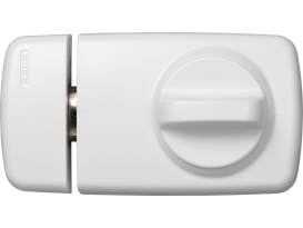 Tür-Zusatzschloß 7010 W/SB weiß