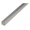 U-Profil 12x8mm, 6x12x1mm, Länge: 2,6m Aluminium, silberfarbig eloxiert