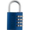 Aluminium Zahlenschloss 145/40, blau, mit verstellbaren Code