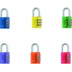 Vorhangschloß 145/30 Color Rainbow SB blau, gelb, grün, lila, orange oder rot
