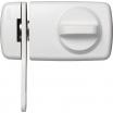 Tür-Zusatzschloß mit Sperrbügel 7030 W/SB weiß