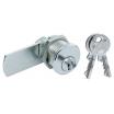 Hebelschloß 2931/1 mit Zylinder 2 Schlüssel Messing poliert vernickelt
