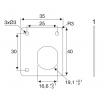 Format Fixierplatte eckig, Rotor MH, vern. 35x40x1mm, VE=10 610865