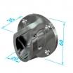 Ovallager 75021 35x20mm, PVC verchromt VE=50