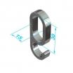 Kunststoff Ringhaken 85430 60 30x15mm, schwarz