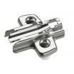 MB-Kreuzmontageplatte, Stahl vernickelt,Dist. 5mm Sensys, für Topfscharnier