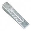 Ochsenkopf Alu-Keil zum Spalten und Fällen 22 cm, Sicherheits-Leichtkeil mit 30° Schrägnuten 550g, FPA,KWF, GS-Prüfzeichen