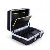 Raaco Werkzeugkoffer Premium L-67 Toolcase Kofferschale ABS, Aludruckgussrahmen, 2 Zylinder- schösser, HxBxT: 360x475x200mm, Farbe Schwarz