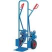 Fetra Treppenkarre, Lufträder 260x85mm 2 fünfarmige Radsterne, Gewicht 20 kg, Tragkr. 200 Schaufel L250xB320mm, ges.Breite 590mm, Höhe 1300m