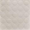 Folmag selbstklebende Abdeckkappen 20mm Nr. 319 Strukturweiß 28St./Blatt, 1 VE = 50 Blätter