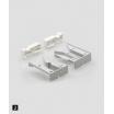 Kombisystem-Kupplung/Tablarhalterset Kunststoff weiß