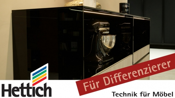 Embedded thumbnail for Das Highboard mit arretierten Tablarböden in der Küche