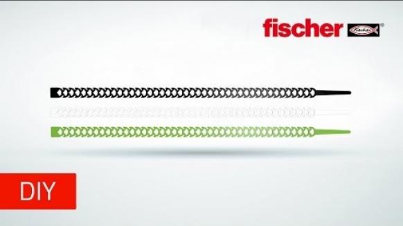 Embedded thumbnail for Fischer Kabelbinder Kable-Fix R - lösbar, teilbar, wiederverwendbar